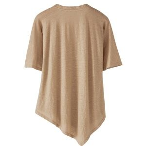 Wrap London Tops - Wrap London Asymmetric Linen Jersey Top US 6 NWT